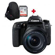 CANON EOS 77D +18-135mm Nano USM + carte SD 16Go + sac à dos photo Canon 300EG