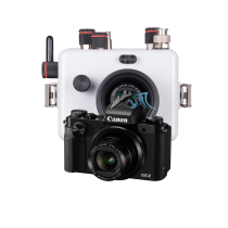Canon G5X pack caisson Ikelite et SD16