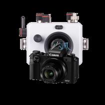 Canon G5X pack caisson Ikelite et SD16