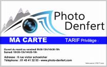 Carte privilège Photo Denfert