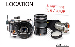 Location mat�riel photo sous marin