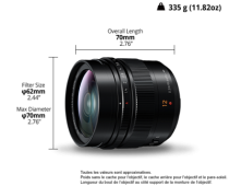 Objectif Panasonic Leica DG Summilux 12mm f/1.4 ASPH