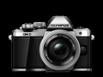 Olympus OMD E-M10 Mark II silver face