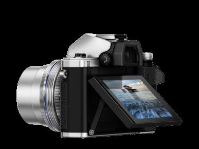 Olympus OMD E-M10 Mark II silver profil écran incliné
