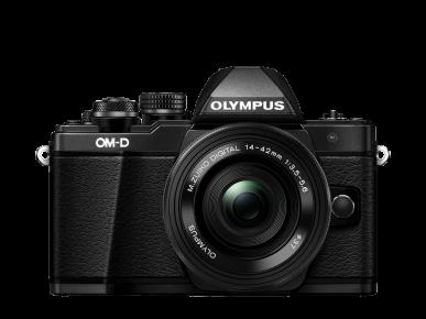 Olympus OMD E-M10 Mark II noir face