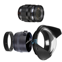 Pack Olympus 12-40mm f/2,8 avec dôme et bague zoom Aquatica