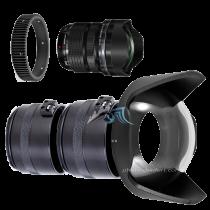 "Pack Olympus 7-14mm f/2,8 avec dôme 8\"" et bague zoom Aquatica"