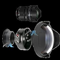"""Pack Olympus 7-14mm f/2,8 avec dôme 8\"""" et bague zoom Nauticam"""