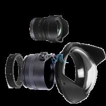 Pack Panasonic 7-14mm f/4 avec dôme et bague zoom Aquatica