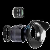 Pack Panasonic 9-18mm f/4,5-5,6 avec dôme et bague zoom Aquatica