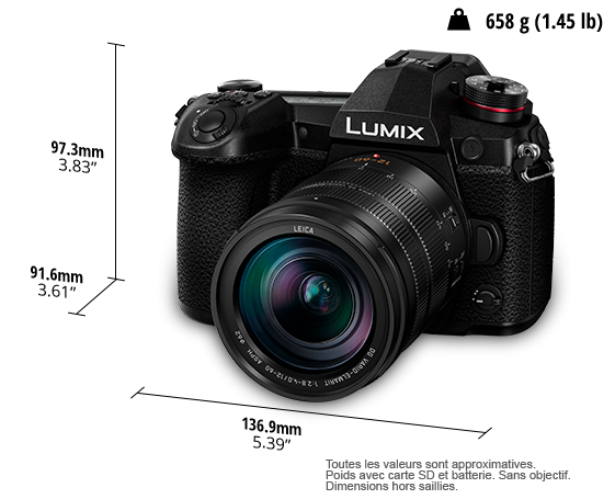 Panasonic Lumix G9 12-60 2.8-4+ garantie 4 ans + batterie offerte