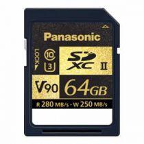 PANASONIC SDXC 64 GO R280 W250 UHS-II V90 CL10