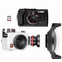 Olympus pack TG6 avec caisson Ikelite, grand angle Olympus FCONT02 et dome Ikelite