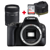 CANON EOS 200D Noir + 18-135mm f/3.5-5.6 IS STM + Sac Photo Canon 100EG + carte SD 16Go