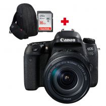 CANON EOS 77D +18-135mm Nano USM + carte SD 16Go + sac à dos photo Canon 300EG