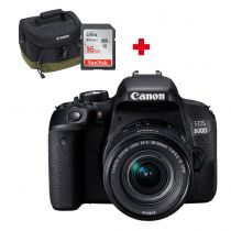 CANON EOS 800D + 18-55 IS STM + carte SD 16Go + sac Photo Canon 100EG