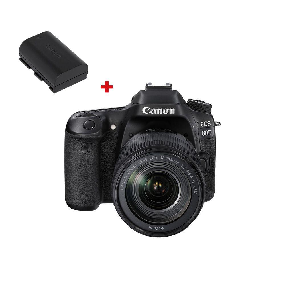 CANON EOS 80D + EF-S 18-135mm f/3.5-5.6 IS Nano-USM + 2ème batterie LP-E6N
