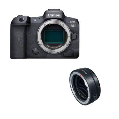 Canon R5 + Adaptateur pour monture Canon EF RF