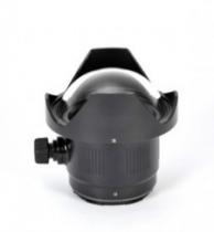 """Dôme 4.33\"""" nauticam pour adaptateur canon ef-eos m et fisheye ef 8-15 mm f4 usm"""