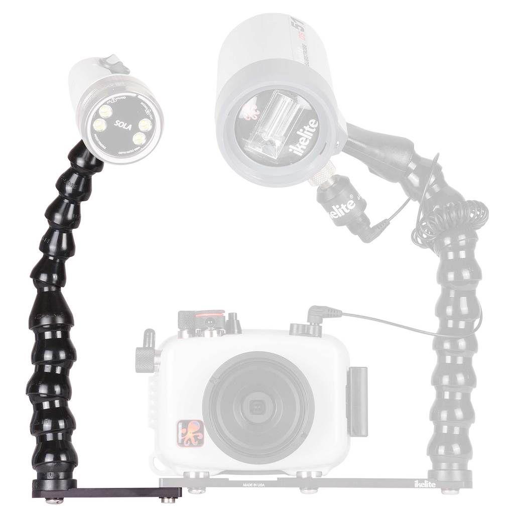 Extension de platine ikelite Action Tray II avec bras léger pour caisson ULTRAcompact