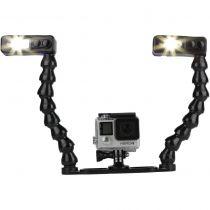 Light and Motion platine action Gopro avec bras flexibles