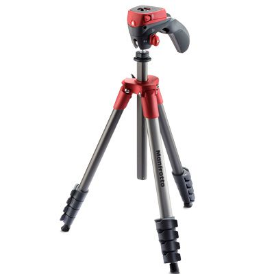 Manfrotto compact action noir trepied rotule 5 sections