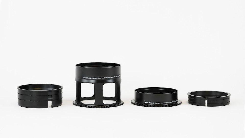Nauticam ensemble de bague cinéma pour Canon 24-105 f4L IS USM