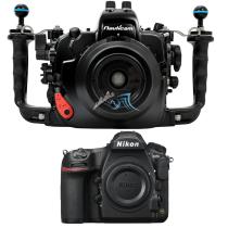 Nikon D850 nu avec caisson Nauticam D850 sans hublot