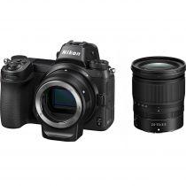Nikon Z6 mirrorless avec adaptateur FTZ et Z 24-70mm f/4 S