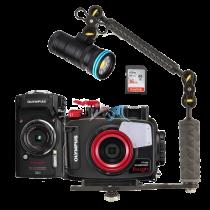 Olympus pack TG5 avec caisson PT-058 et pack lampe 3000 lumens flash
