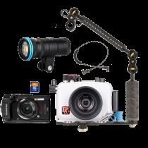 Olympus pack TG5 avec caisson PT-058 et pack Weefine Smart Focus 3000