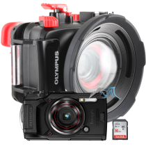 Olympus pack TG6 avec caisson PT059, SD16, dome UAL-05