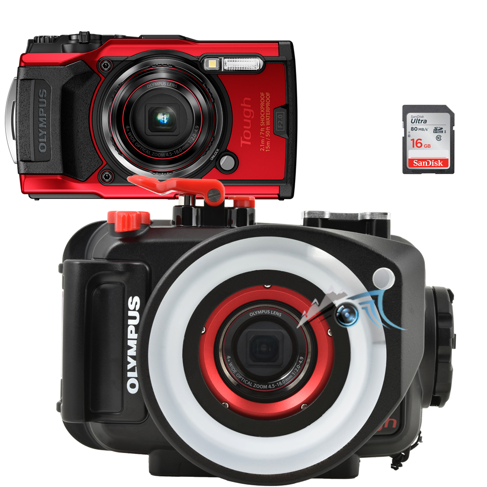 Olympus pack TG6 avec caisson PT059, SD16, et LG-2