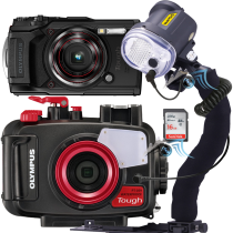 Olympus pack TG6 avec caisson PT059, SD16, Flash YS-03