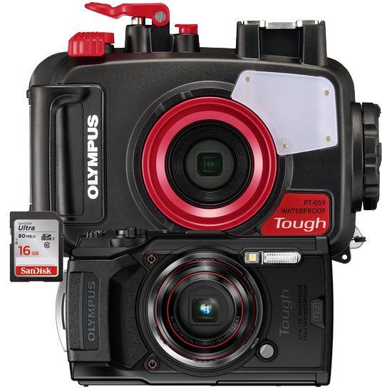 Olympus pack TG6 avec caisson PT059 et carte 16
