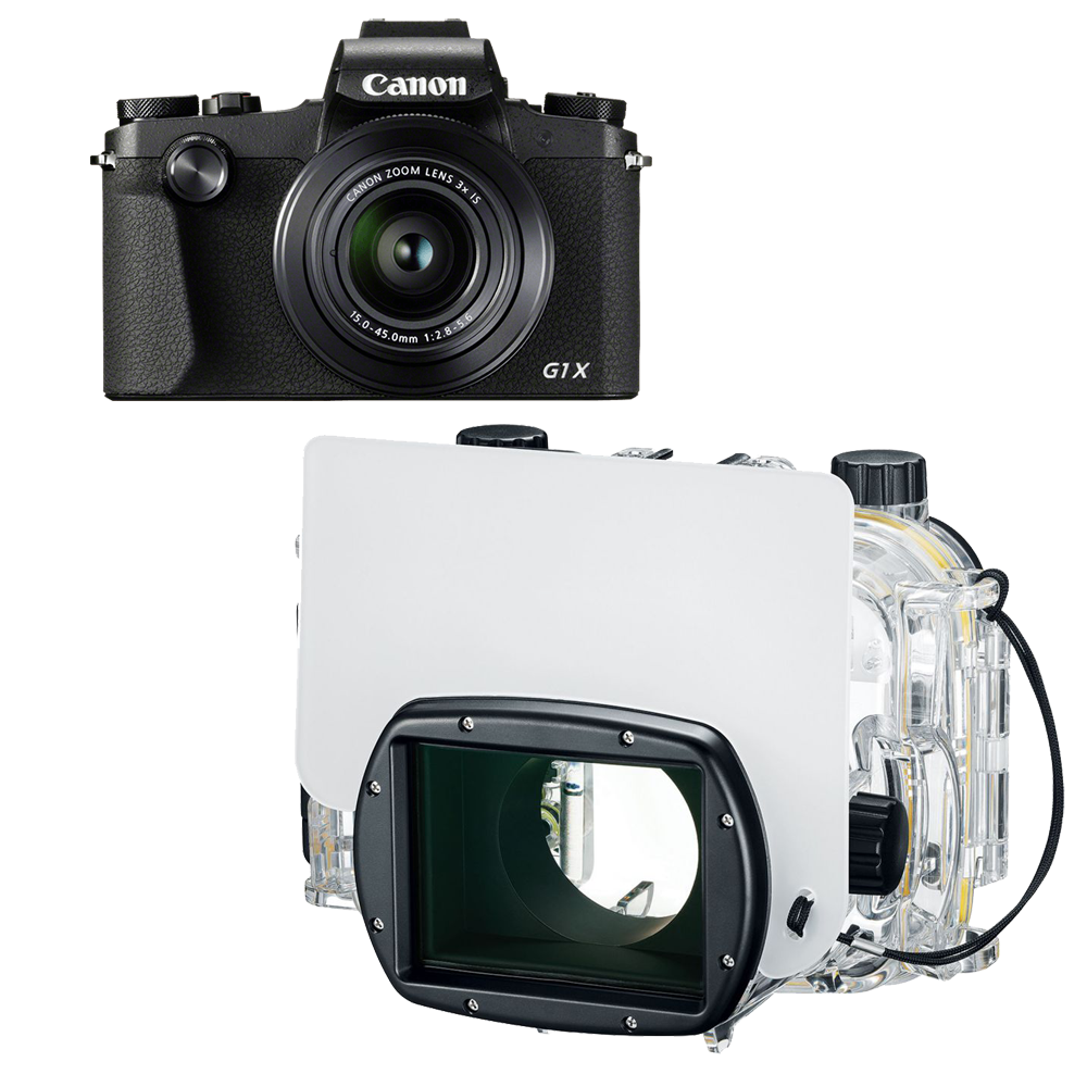Pack G1X III avec caisson Canon WP-DC56 + SD 16