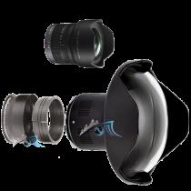 """Pack Olympus 8-18mm f/2,8 avec dôme 7\"""" et bague zoom Nauticam"""