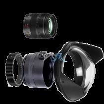 Pack Panasonic 12-35mm f/2,8 avec dôme et bague zoom Aquatica
