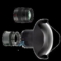 Pack Panasonic 12-35mm f/2,8 avec dôme et bague zoom Nauticam