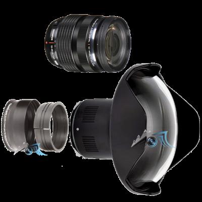 Pack Panasonic 12-40mm f/2,8 avec dôme et bague zoom Nauticam