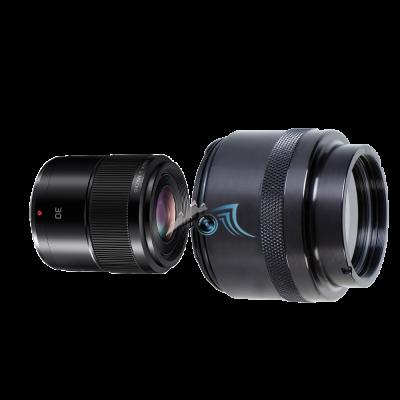 Pack Panasonic 60mm f/2,8 macro avec hublot Aquatica 30207