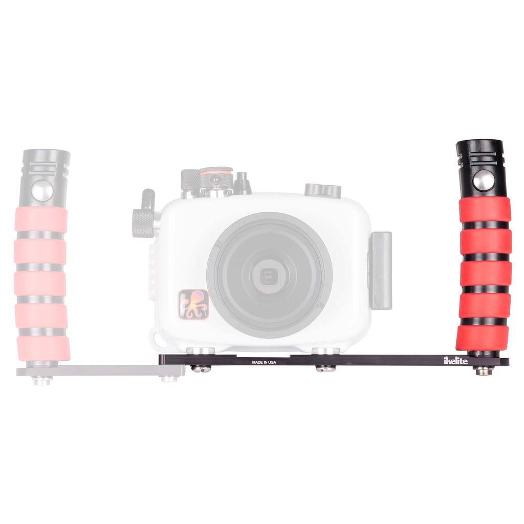Platine ikelite Bac Action II avec poignée gauche pour boîtiers compacts