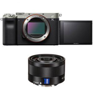 Sony Alpha A7C silver + FE 35 mm f/2,8 Zeiss Sonnar T* noir