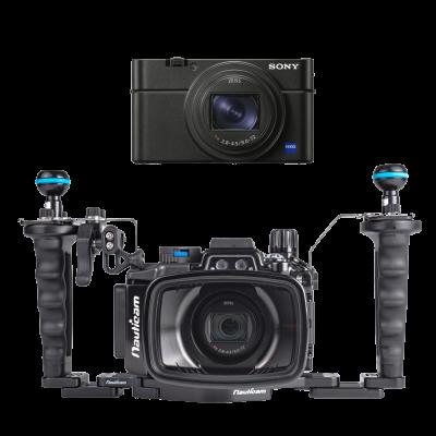Sony RX100 M6 avec caisson Nauticam RX100 M6 + SD 32