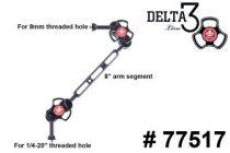 TLC bras à 3 section avec adaptateur 8mm 77517