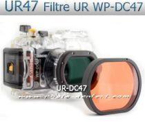 URDC47 Filtre UR pour caisson Canon WP-DC43 et WP-DC47 et WP-DC51