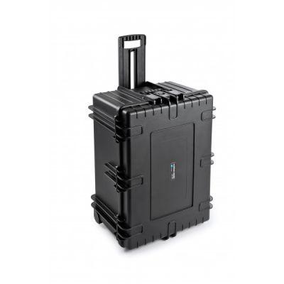 Valise de transport à roulette 7800/B noir avec mousse