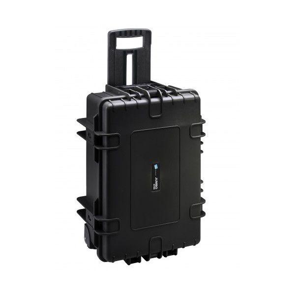 Valise de transport extérieur 5000/B noir avec mousse